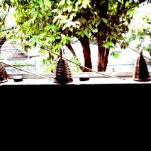 Caxixi na janela da Unicap
