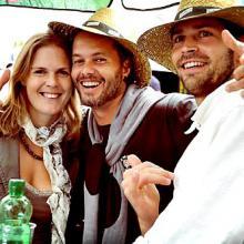 Brigitte, Preto Velho e Conilho na Festa